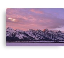 Grand Teton Evening Light Canvas Print