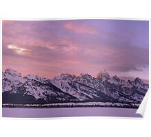 Grand Teton Evening Light Poster