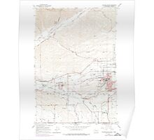 USGS Topo Map Washington College Place 240596 1966 24000 Poster