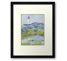 Lighthouse at Peggy's Cove, Nova Scotia Framed Print