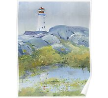Lighthouse at Peggy's Cove, Nova Scotia Poster