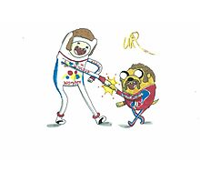 Jake and Finn shake and bake by WRTISTIK Photographic Print