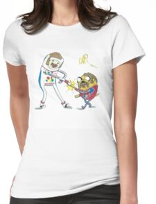 Jake and Finn shake and bake by WRTISTIK Womens Fitted T-Shirt