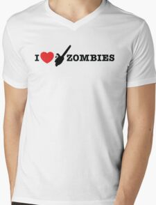 I <3 Zombies Mens V-Neck T-Shirt