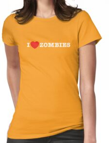 I <3 Zombies Womens Fitted T-Shirt