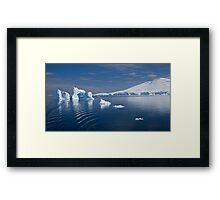 Simply Cyan (Gerlache Strait, Antarctica) Framed Print