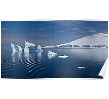 Simply Cyan (Gerlache Strait, Antarctica) Poster