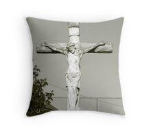 Cross B&W Throw Pillow