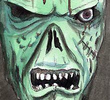 Zombie Portrait by Lee Twigger