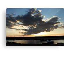 Blue Sky Cloudscape - Burnham Overy Staithe, Norfolk, UK Canvas Print