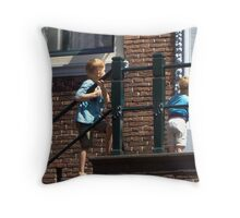 Hey! What is going on there? Throw Pillow