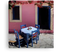 A Table for Four Canvas Print