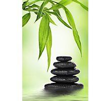 Zen stones and bamboo Photographic Print