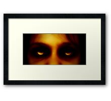 She watches. Framed Print