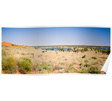 Sand Dune and Lakes near Old Andado Homestead  Poster