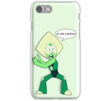 "Is ""This"" a Weapon? (Peridot) iPhone Case/Skin"