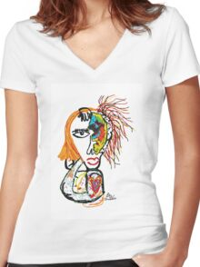 The Face Women's Fitted V-Neck T-Shirt