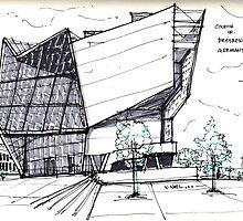 Architecture Sketch – UFA Cinema in Dresden, Germany by Vernelle  Noel