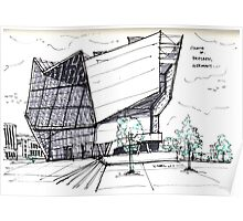 Architecture Sketch – UFA Cinema in Dresden, Germany Poster