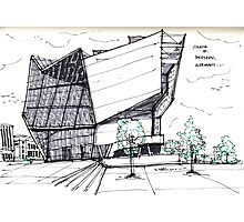 Architecture Sketch – UFA Cinema in Dresden, Germany Photographic Print