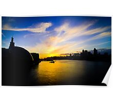 City Sunset Poster