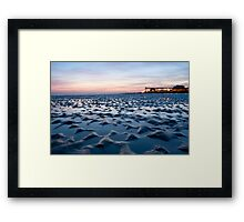 Blue Bognor Sunset Framed Print