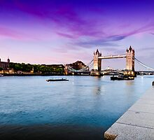 London's Summer Sunset, with Purple Horizon by FPhotographic
