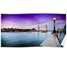 London's Summer Sunset, with Purple Horizon Poster