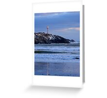 Cape Forchu Lighthouse in a Blue Mood 2 Greeting Card