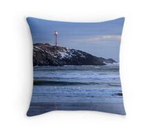 Cape Forchu Lighthouse in a Blue Mood 2 Throw Pillow