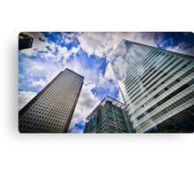 Canary Wharf And It's Competiton Canvas Print