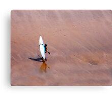 Blue Kayak on the Beach Canvas Print