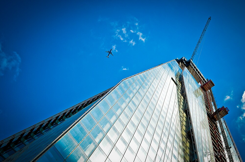 Shard Going Up by FPhotographic