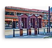 Banff, Alberta -  phone booths Canvas Print