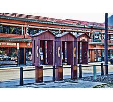 Banff, Alberta -  phone booths Photographic Print