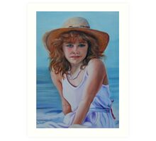 Girl in the Straw Hat Art Print