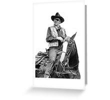John Wayne as Rooster Cogburn Greeting Card