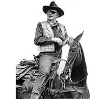 John Wayne as Rooster Cogburn Photographic Print
