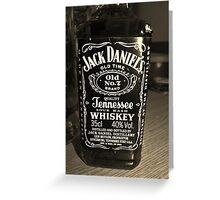 Jack Daniels Greeting Card