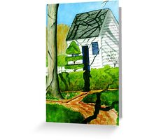 Late Day Shadows Greeting Card