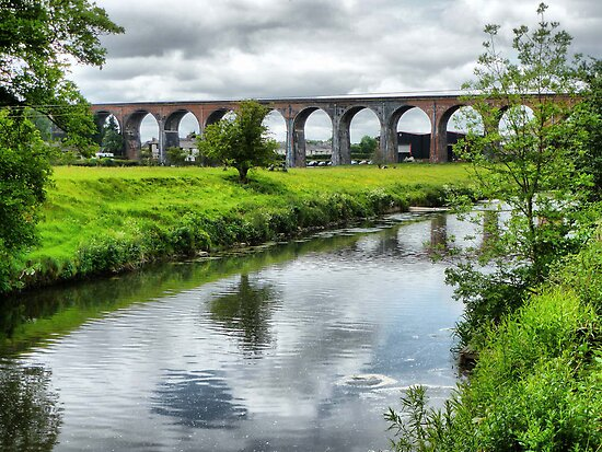 Whalley Viaduct. by Lilian Marshall