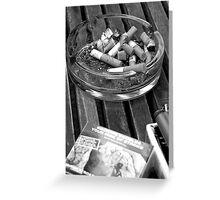 Thanks for Smoking Greeting Card