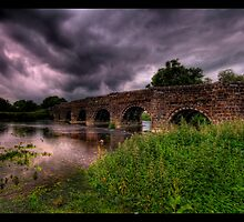 White Mill Bridge panorama by banny