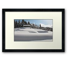 Marshmallow Snow Framed Print