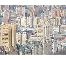 Aerial View of Upper West Side of Manhattan Photographic Print