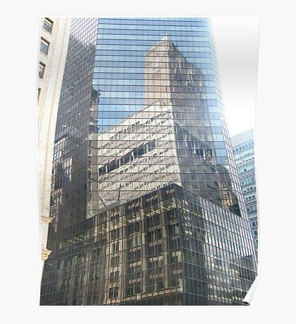 Reflection in New York Office Building Poster