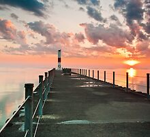 Pier Sunrise - Rochester, NY by BradKphoto
