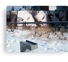 NY January High Line in Snow, New York's Elevated Garden and Walking Path Canvas Print