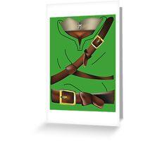 Zelda - Link's Tunic Greeting Card