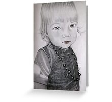 Mama's  little gorgeous girl Greeting Card